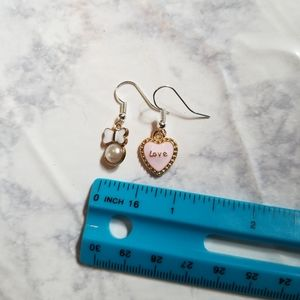 Hand Crafted Jewelry - LOVE PEARL   Enamel Earrings Stainless Steel Cute